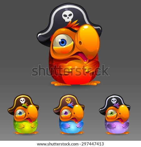parrot pirate set