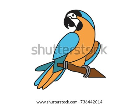 parrot vector icon logo