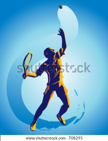 Part of my sports illustrations series. Grouped  and layered for easier editing. - stock vector