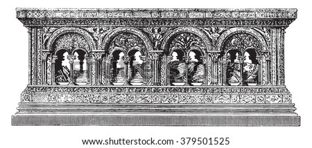 part of the tomb of henry the
