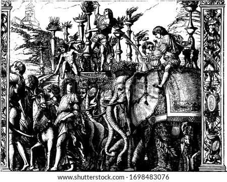part of the triumphs of julius