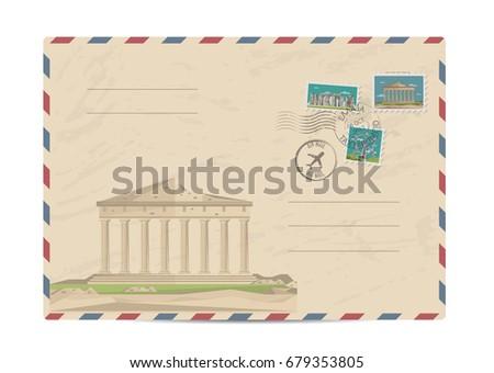 parthenon temple on acropolis