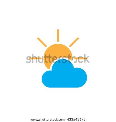 partially sunny icon  partially
