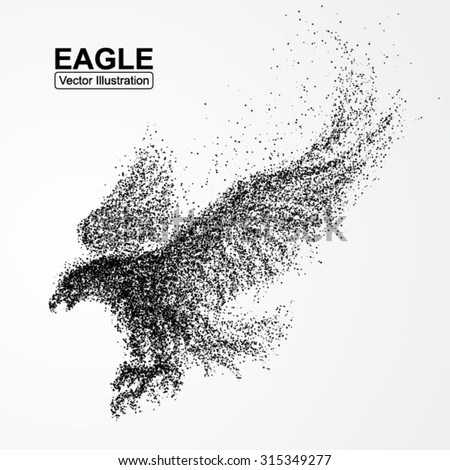 particle eagle  vector