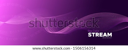 Particle Future. Neon Big Data Stream. Light Tech Abstract. Binary Number Background. Particle Motion. Purple Big Data Concept. Tech Poster. Glow Binary Number Wallpaper. Digital Particles.