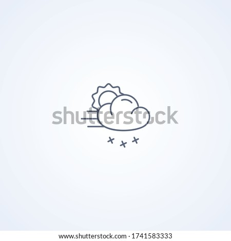 partly cloudy and snowfall
