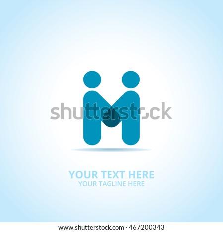 Partnership abstract emblem, design concept, logo, logotype element for template.