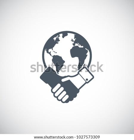 Partnership icon. Handshake icon. Teamwork and friendship. Business concept. Flat vector illustration.