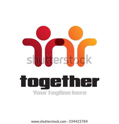 Partnership icon Vector Logo Template