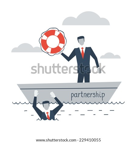 partnership or insurance concept