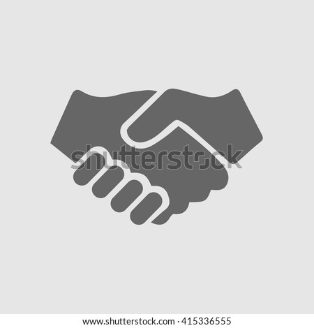 Partnership vector. Handshake icon. Hand shaking vector icon.