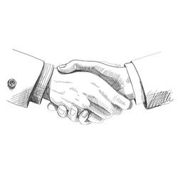 Partneship. Sketch handshake