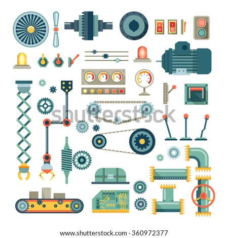 parts of machinery and robot