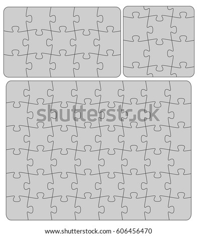 Parts of paper puzzles business concept template ez canvas parts of paper puzzles business concept template wajeb Images