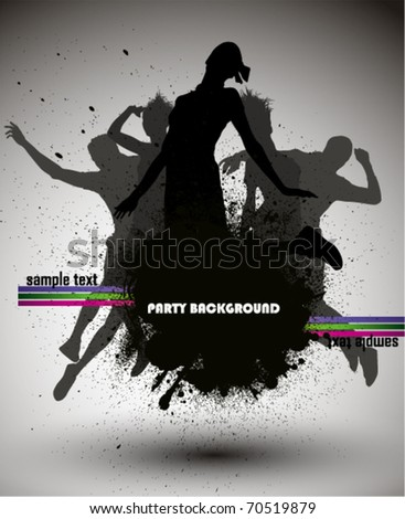 Party Background, vector illustration.