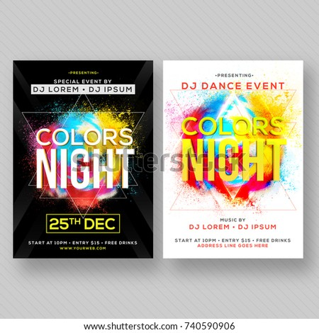 party banner or flyer with two color concepts ez canvas