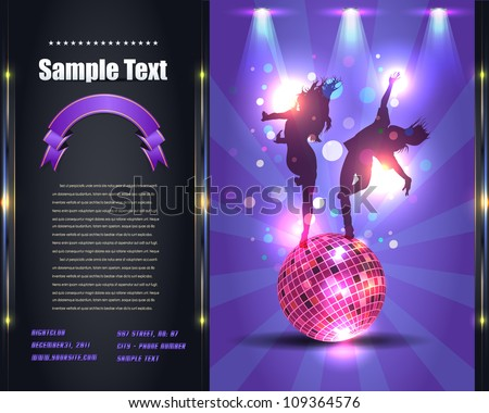 Party Brochure Flyer Vector Template