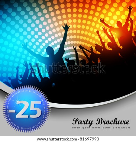 party brochure template   eps10