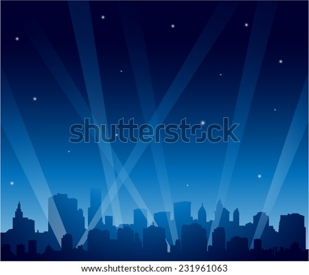 party city at night background
