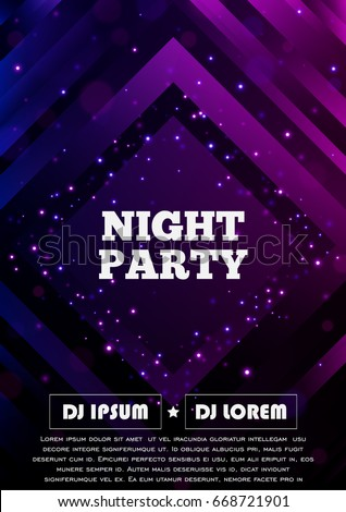 party club flyer vector poster