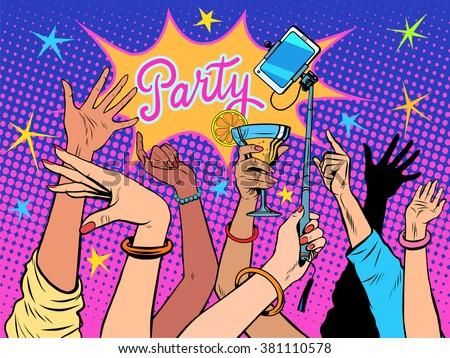 Party dancing selfie drinks