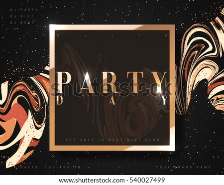 party day background gold