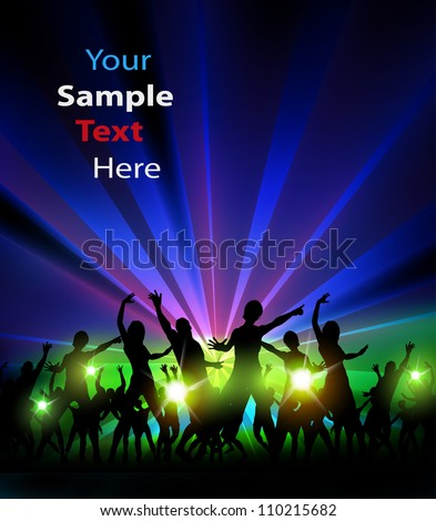 Party Design Illustration, easy editable