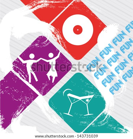 party design over white background vector illustration