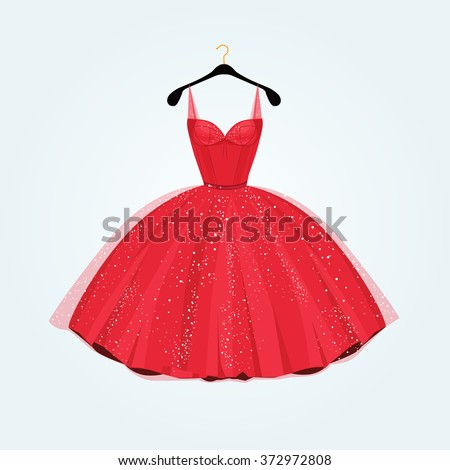 party dress red vintage style