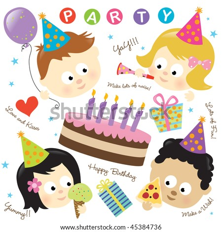 Party elements with kids