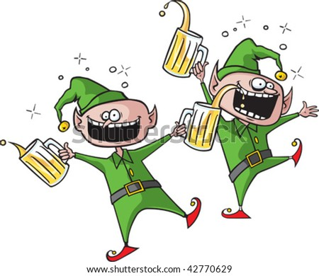 Party elves. Layered vector file.