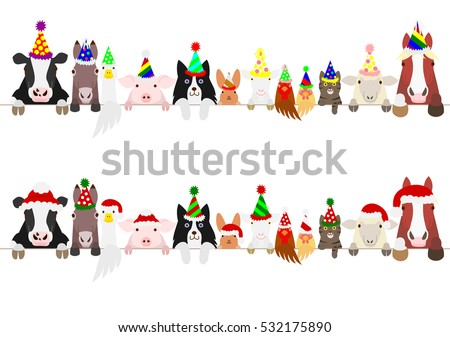 party farm animals border set