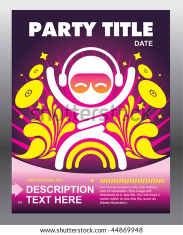 Party flyer card template design