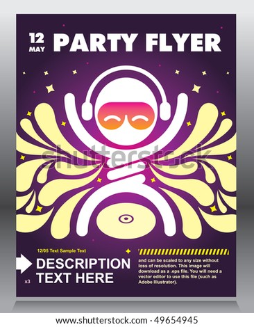 party flyer design vector