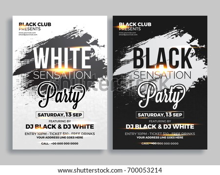 party flyer or banner design in