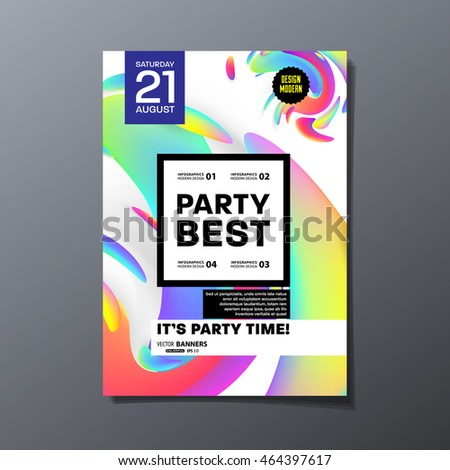 party flyer template design