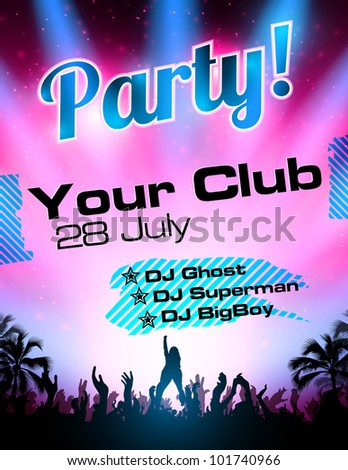 Party flyer vector template