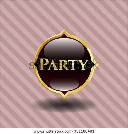 Party gold emblem