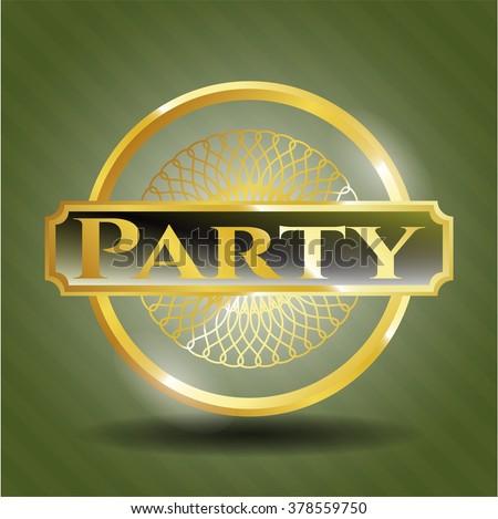 Party gold shiny emblem