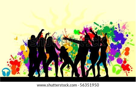 Party-  grunge background