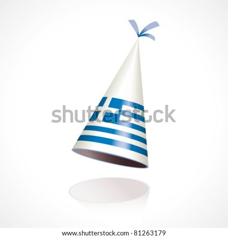 Party hat with the flag of Greece