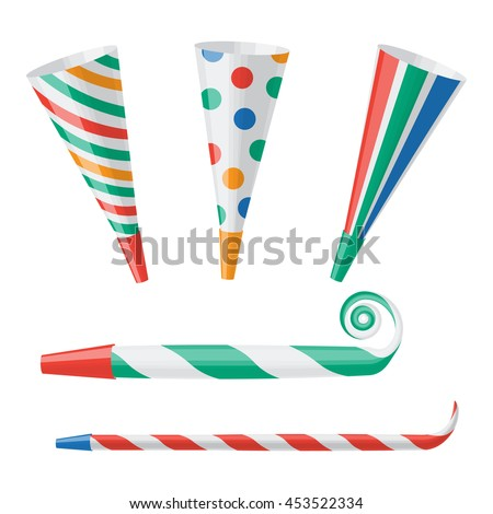Party horn vector illustration isolated on a white background