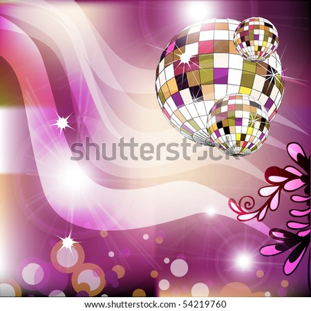 music party invitation background design download free vector art