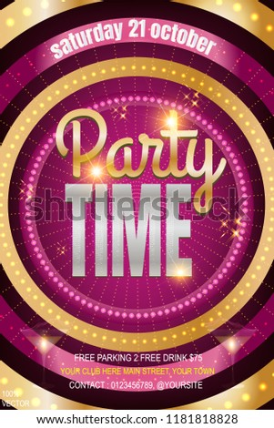 party invitation poster vector