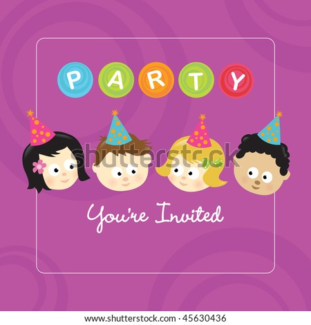 Party invitation w/ kids