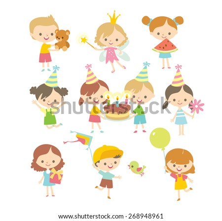 party kids in simple style