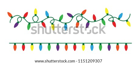 Party lights xmas lights celebration Vector eps red yellow green purple violet Orange gold vintage fun funny color Special light effects Glowing light bulbs String Lights star shape lamps festive Yule