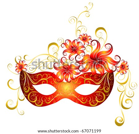 Party mask for masquerade. Vector.