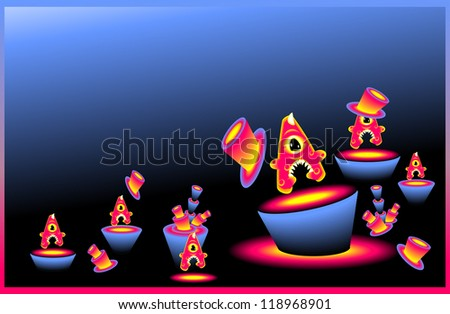 Party Monster letters A in marine color