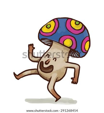 party mushroom  vector